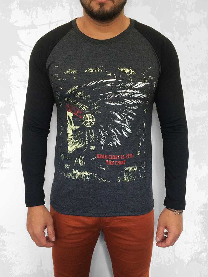 CAMISETA RAGLAN THE CHIEF MANGA LONGA