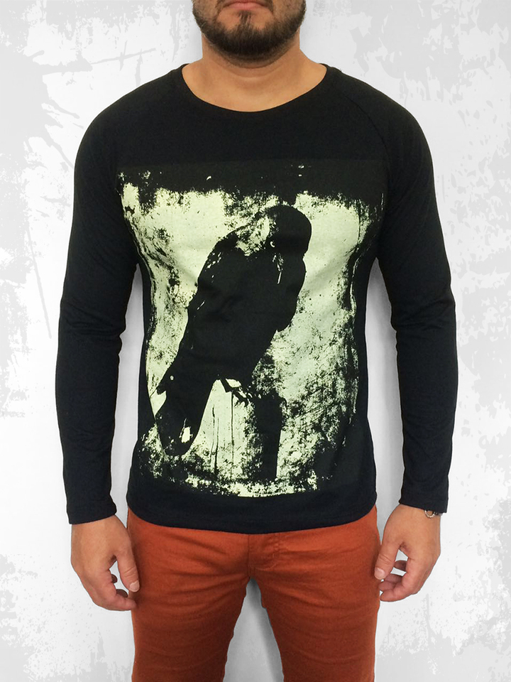 CAMISETA THE CROW MANGA LONGA RAGLAN