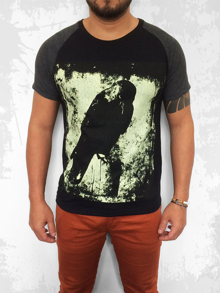 CAMISETA THE CROW MANGA CURTA