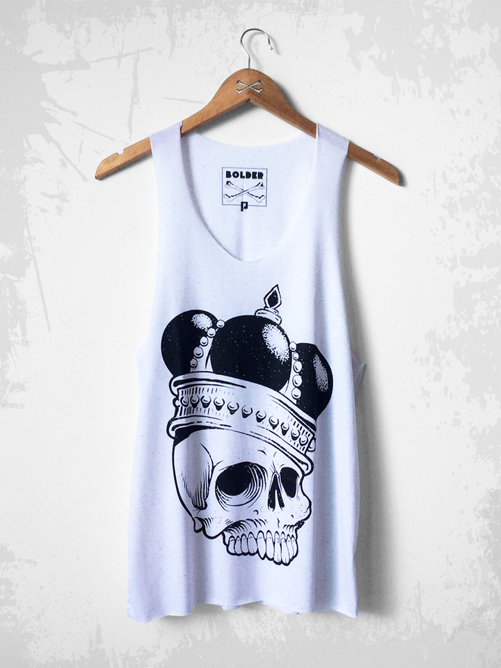 REGATA CAVADA QUEEN SKULL BRANCO