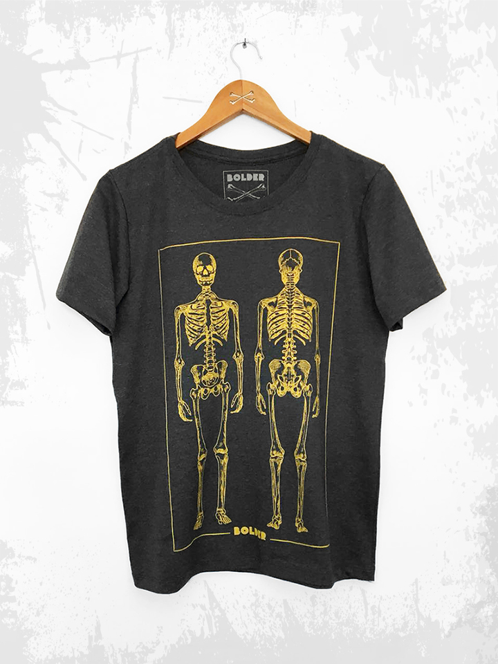 CAMISETA SKELETON GRAFITE