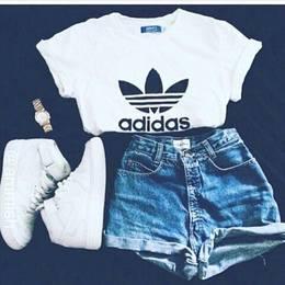 Blusa Adidas Inspired - Preto ou Branco 005743cbb2f