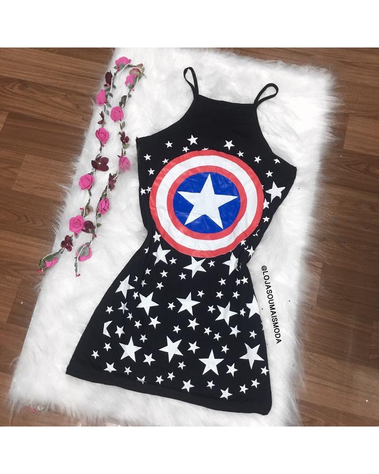Vestido capitão América - SouMaisModa cc1903798a